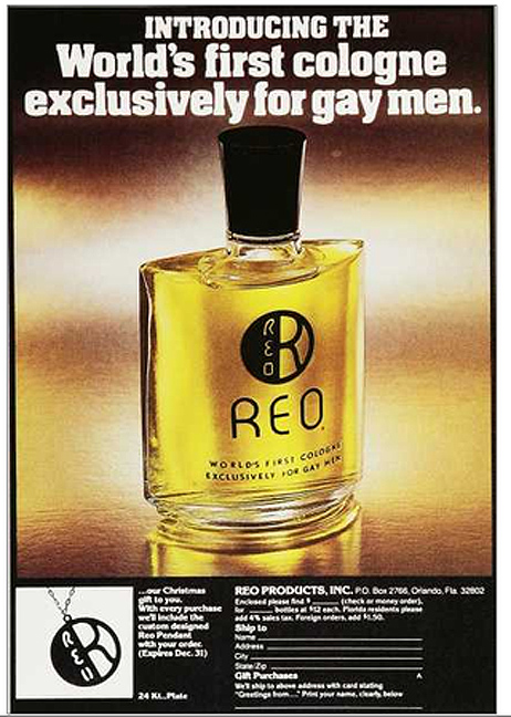 ... for Reo - touted as the world's first cologne exclusively for gay men.